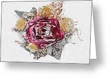 The Rose Greeting Card by Susan Leggett