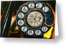 The Rotary Dial Greeting Card