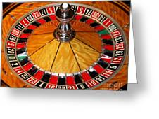 The Roulette Wheel Greeting Card