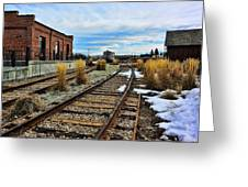 The Roundhouse Evanston Wyoming - 5 Greeting Card