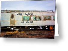 The Roundhouse Evanston Wyoming Dining Car - 5 Greeting Card