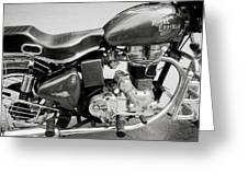 The Royal Enfield Motorbike Greeting Card