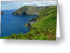 The Rugged Green Shore Greeting Card