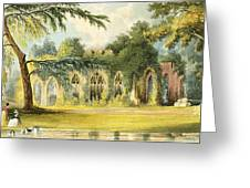 The Ruins   Frogmore Greeting Card
