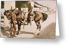 The Rural Guard Mexico Greeting Card
