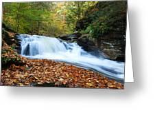 The Rushing Waterfall Greeting Card