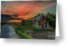 The Rustic Barn Greeting Card by Pete Reynolds