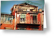 The Rustic Look In Naples Italy Greeting Card