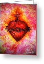 The Sacred Heart Of Jesus Christ Greeting Card