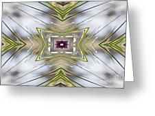 The Sacred Pine Mandala Yantra Greeting Card