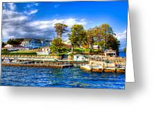 The Sagamore Hotel On Lake George Greeting Card by David Patterson