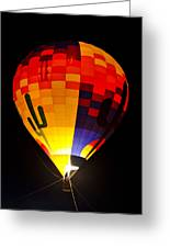 The Saguaro Balloon  Greeting Card