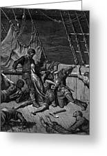 The Sailors Curse The Mariner Forced To Wear The Dead Albatross Around His Neck Greeting Card