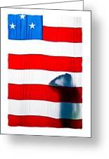 American Flag Salute Greeting Card