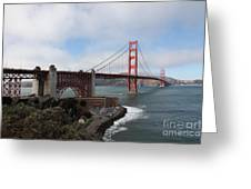 The San Francisco Golden Gate Bridge - 5d18909 Greeting Card by Wingsdomain Art and Photography