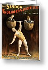 The Sandow Greeting Card by Aged Pixel