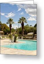 The Sandpiper Pool Palm Desert Greeting Card