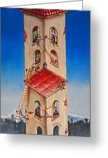 The Santana Building Greeting Card by Dayna Reed