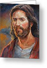 The Savior Greeting Card by Steve Spencer