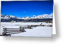 The Sawtooth Mountains Greeting Card
