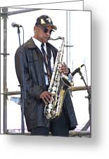 The Saxophone Player Greeting Card