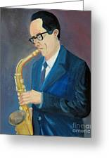 The Saxophonist Greeting Card