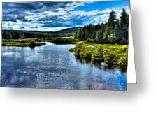 The Scenic Moose River Greeting Card