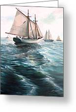 The Schooners Greeting Card