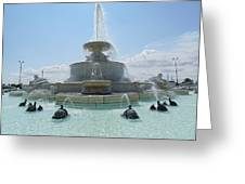 The Scott Fountain On Belle Isle Greeting Card