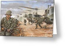 The Screaming Eagles In Vietnam Greeting Card by Bob  George