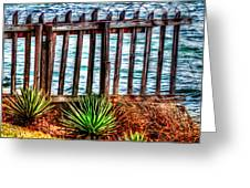 The Sea Fence Siesta Key Fla. Greeting Card