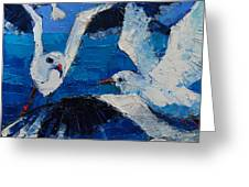 The Seagulls Greeting Card