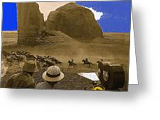 The Searchers   Cast And Crew Monument Valley Arizona 1956 Greeting Card
