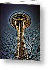 The Seattle Space Needle Iv Greeting Card
