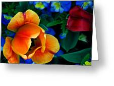The Secret Life Of Tulips Greeting Card