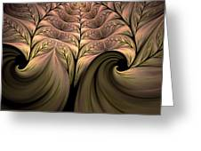 The Secret World Of Plants Abstract Greeting Card