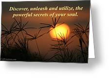 The Secrets Of Your Soul Greeting Card
