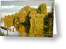 The Seine At Bonnieres Greeting Card by Olivier Le Queinec