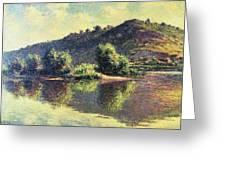 The Seine At Port-villez, 1883 Greeting Card
