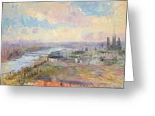 The Seine At Rouen Greeting Card