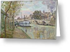 The Seine In Paris  Greeting Card