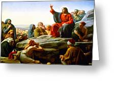 The Sermon On The Mount  Greeting Card