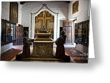 The Serra Cenotaph In Carmel Mission Greeting Card