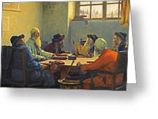 The Seven Rabbis In Jerusalem Greeting Card