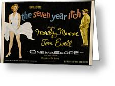 The Seven Year Itch Greeting Card by Georgia Fowler