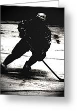 The Shadows Of Hockey Greeting Card