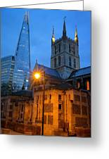 The Shard And Southwark Cathedral Greeting Card
