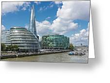 The Shard London Greeting Card by Donald Davis