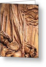 Saint Gaudens -- The Shaw Memorial's Left Side Greeting Card