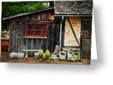 The Shed At Monches Farm Greeting Card by Mary Machare
